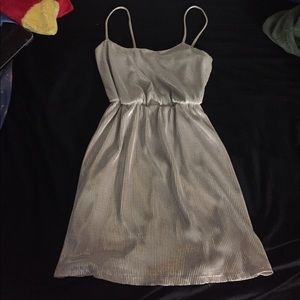 Shimmery Silver Cocktail Dress