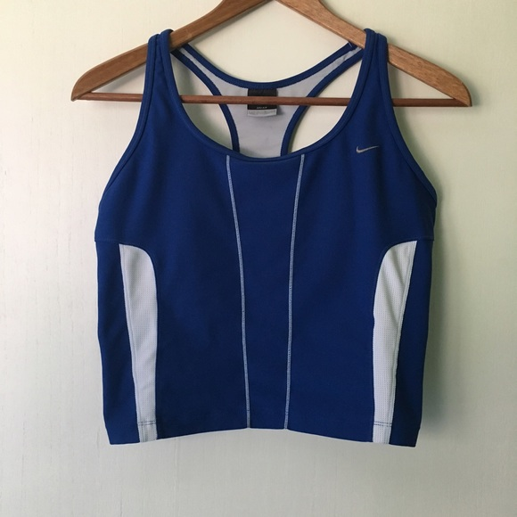 54 off nike tops nike cropped running tank top. Black Bedroom Furniture Sets. Home Design Ideas