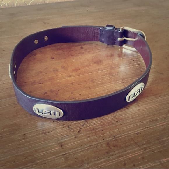 ab389e95a Accessories | Lsu Leather Concho Belt Men Or Boys Size 30 | Poshmark