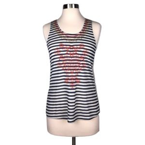 Anthropologie Tops - THML S Striped Ribbed Embroidered Tank Top NWOT
