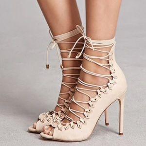 Nude Faux Leather Stilettos