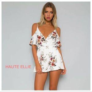 Haute Ellie Pants - 🆕 Cabrio Floral Print Bare Shoulder Romper