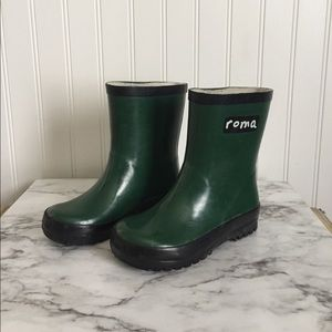 Roma Other - Roma hunter green rain boots toddler size 9