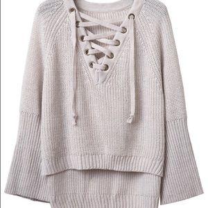 7afc6d65b58 ROMWE Sweaters - ROMWE Make Me Mauve Raglan Lace Up Sweater
