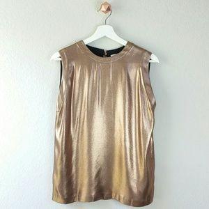 Brunello Cucinelli Tops - BRUNELLO CUCINELLI copper metallic blouse