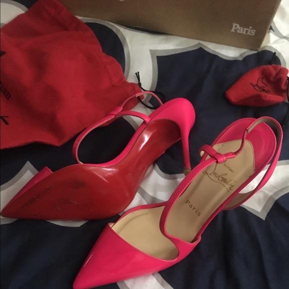 6fb9a10629d Hot pink Christian Louboutin Size 7 /37