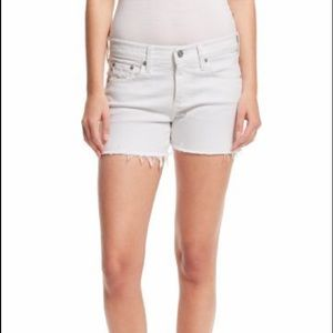 Ag Adriano Goldschmied Pants - AG Jane Cut Off Short in White