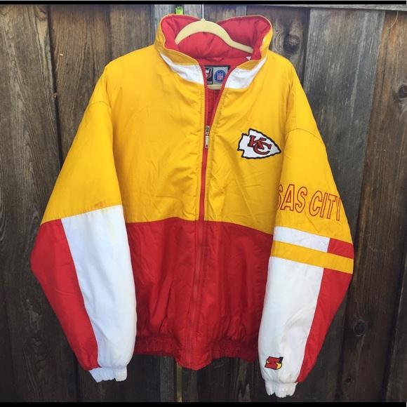 d9d3c2ed 🔥🏈 Kansas City Chiefs vintage Starter S1 jacket