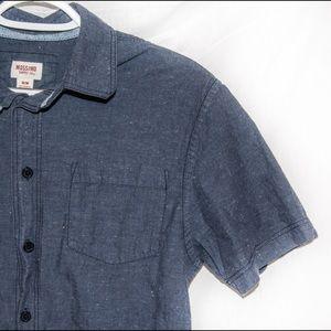 Mossimo Dark Blue Button-Up