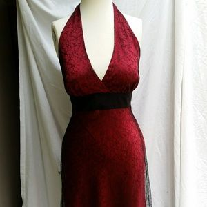 Jones Wear Dress Dresses & Skirts - Red with black lace Dress