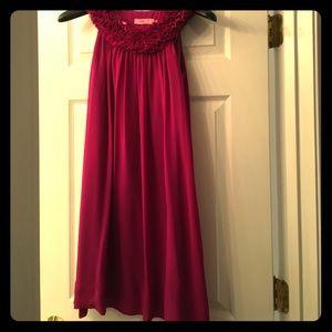 Eliza J Dresses & Skirts - MARKED DOWN!✂️ Fuchsia dress ruffle collar Eliza J