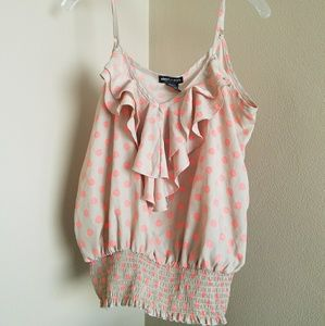 About A Girl Tops - About a girl tank top ruffled  blouse