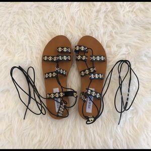 Steve Madden Shoes - Steve Madden Reeta Leather Gladiator Sandals 7