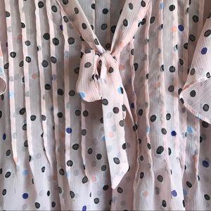 Elle Tops - Elle • Sheer Pink Blouse