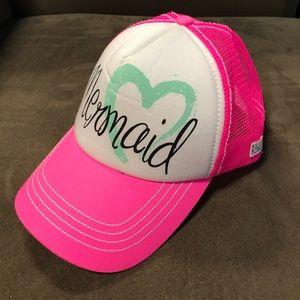 Mermaid Trucker Hat Baseball Cap Billabong Pink
