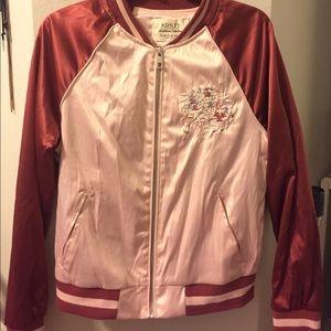 Ashley By 26 International Jackets & Blazers - NWOT Pink Silk Bomber Jacket