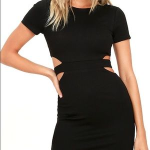 Lulus Dresses & Skirts - NEW Black cutout bodycon dress
