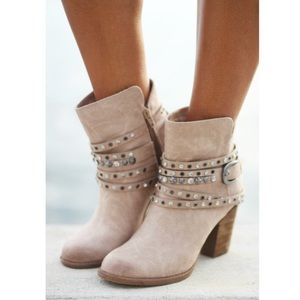 Dazzling Studded Rhinestones Distressed Ankle Boot