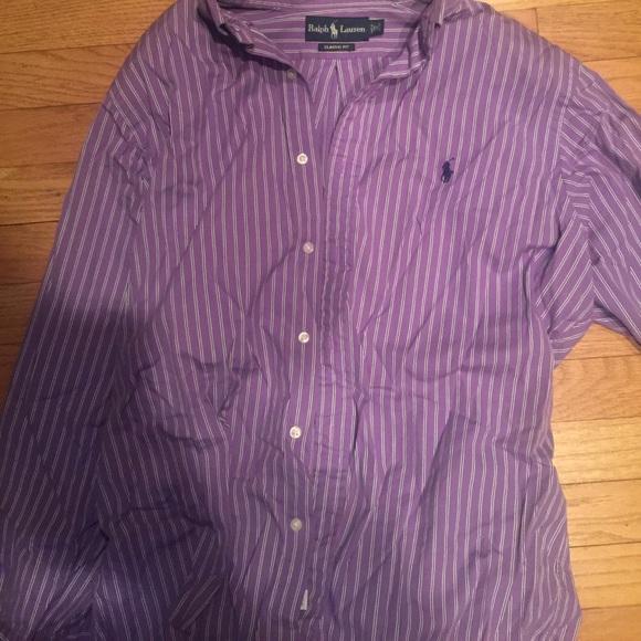 Polo by ralph lauren ralph lauren classic fit dress for Purple polo uniform shirts