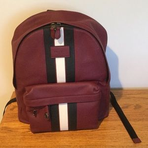 Coach Other - NWT Coach Leather Burgundy Backpack