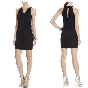 NWT BCBG MaxAzria black Jaide halter dress