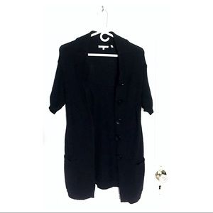 48% off Vince Sweaters - Chunky Black Short-Sleeve Cardigan ...