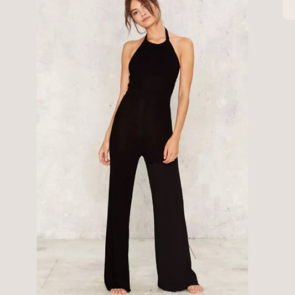 3c78637e0c42 Rehab Black Knitted Jumpsuit