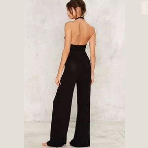 56b50f37acd6 Nasty Gal Pants - Rehab Black Knitted Jumpsuit