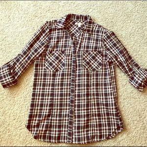 Stitch Fix Plaid Button-Up Shirt