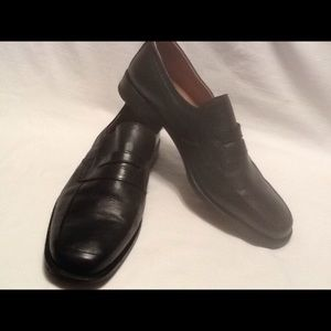 Other - Mens Franco Fortini black leather loafer size 11.5