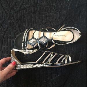 Alexandre Birman Shoes - Alexandre Birman python & leather wedge sandal