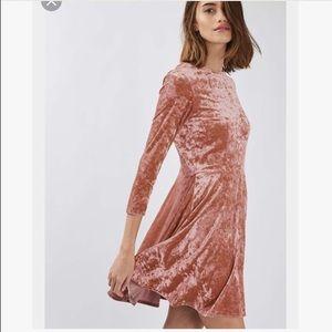 NWT topshop velvet skater dress