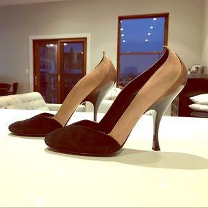 Miu Miu Suede & Patent Leather Ombré Heels
