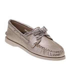 Sperry Shoes - Gold sperry topsiders 9.5