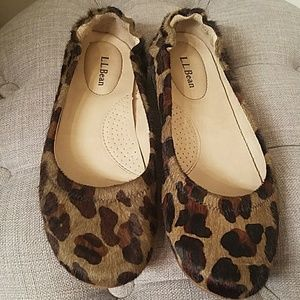 L.L. Bean Shoes - LL Bean Pony Hair Camo Leopard Flats