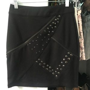 Kardashian Kollection Dresses & Skirts - Kardashian Kollection Black Studded Skirt