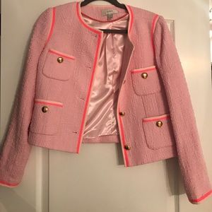  J. Crew Pink and Gold Blazer Size 6 