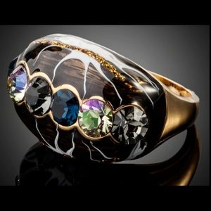 Anthropologie Jewelry - Multicolor  Austrian Crystal  Oil Painting Ring