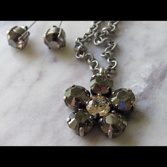 2aafc5740 Swarovski crystal flower pendant & stud earrings. Swarovski.  M_59487143f09282328b00c82a. M_5948714d5c12f8c49400b2c0.  M_5948715b7fab3a26ca00c40a