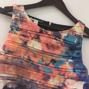Maggie Boutique Ivy & Blu, watercolor sheath dress