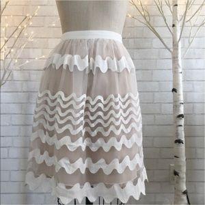 English Laundry Dresses & Skirts - English Laundry white nude full skirt  size M NWOT