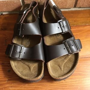 Birkenstock Shoes - Birkenstock Betula Leather Milano sandals 40/9