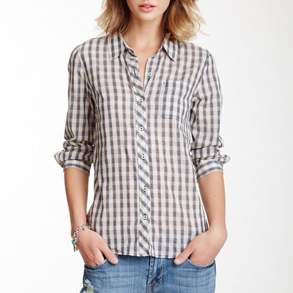 75 off lucky brand tops lucky brand mixed gingham for Lucky brand button down shirts