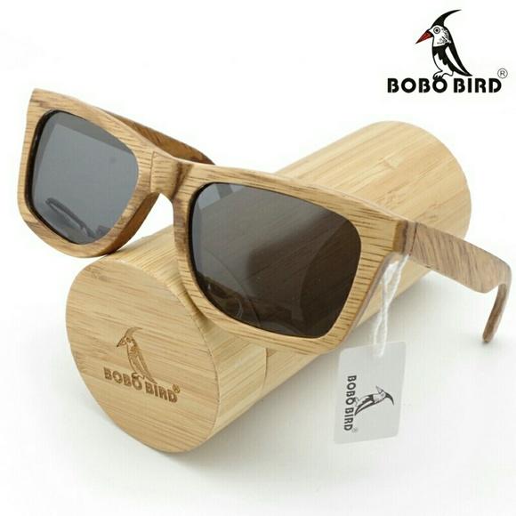 nwt nib bobo bird wooden frame sunglasses - Wooden Frame Sunglasses