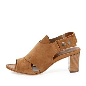 Anyi Lu Shoes - Suede Open Toe Bootie Heel Anyi Lu