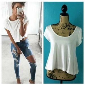 Love In White Boho Caged Crop Top