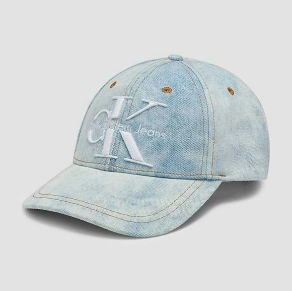 Calvin Klein Reissue Logo Denim Dad Hat 03b58da7329