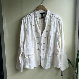 INC International Concepts Jackets & Blazers - INC Linen Plus Size Blazer   Host Pick