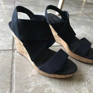 Charles by Charles David black wedge sandals