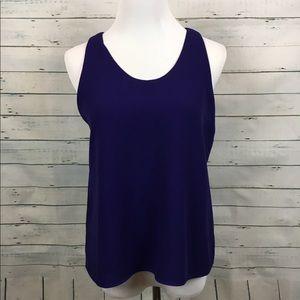 Ann taylor loft sleeveless indigo shell Blouse